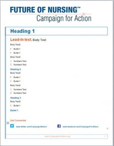 Campaign for Action Marketing Materials - Clean template