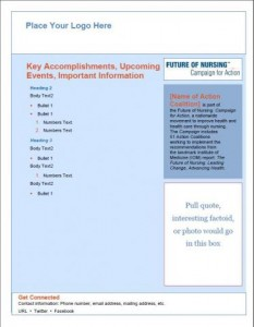 Campaign for Action Marketing Materials - Key Accomplishments