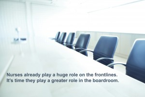 10,000 nurses on boards of directors by 2020.