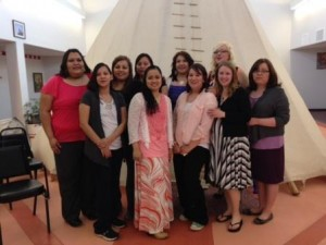 Native Americans in Nursing; 2014 graduates of the LPN program at Blackfeet Community College