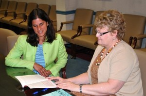 Edna Camdus mentoring Maria Torchia LoGrippo
