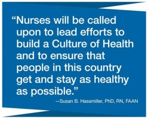 Culture of Health Quote from Sue Hassmiller