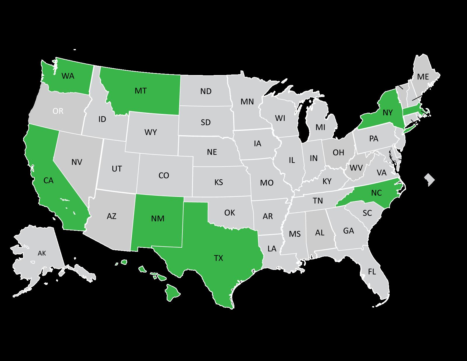States involved in the RWJF Academic Progression in Nursing program