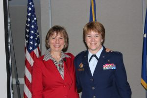 Susan Hasmiller and Major General Dorothy A. Hogg