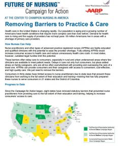 Current Activity on Removing Barriers to Practice and Care page 1