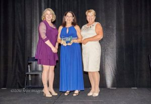 Legend in Nursing Award; Photo: Meredith Hestand Robin Schaeffer, and Vicki Huber. Photo credit:Glen Mire, Mire Images