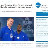 Nursing, Not Football, Now Goal for Two Athletes screen shot of article