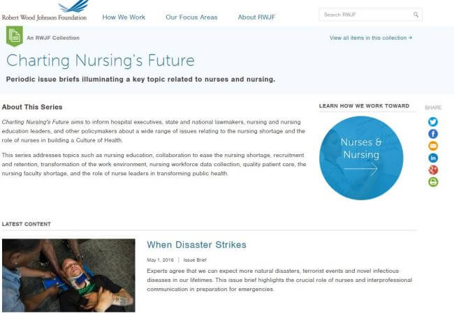 Charting Nursing's Future: A Valuable Resource