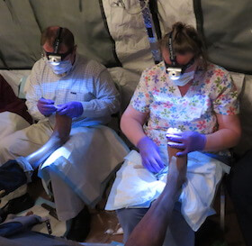 public health nurses provide foot care to veterans