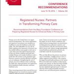 cover page for Preparing Registered Nurses for Enhanced Roles in Primary Care