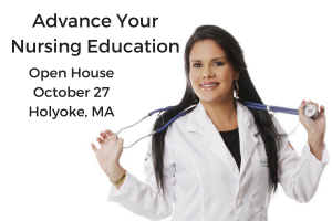 Advance Your Nursing Education, Open House, Oct 27, Holyoke MA - photo of nurse