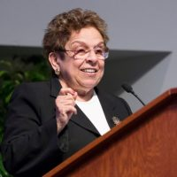 Donna Shalala speaking at the 2013 IOM Rosenthal Lecture