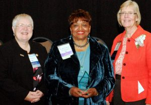 2016 Political Nurse Award - From left to right: WNA Treasurer Cathy Berry, Nichols, and Gobis.