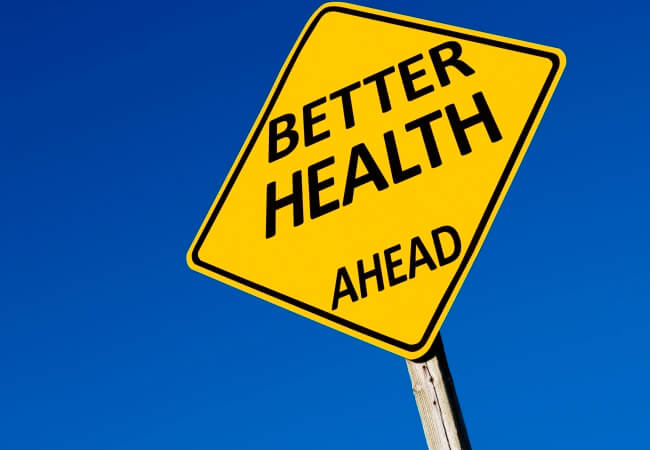 "Traffic sign - Better Health Ahead for Columnist: ""One Small Step"" Would Be Big Leap for Health Care article"