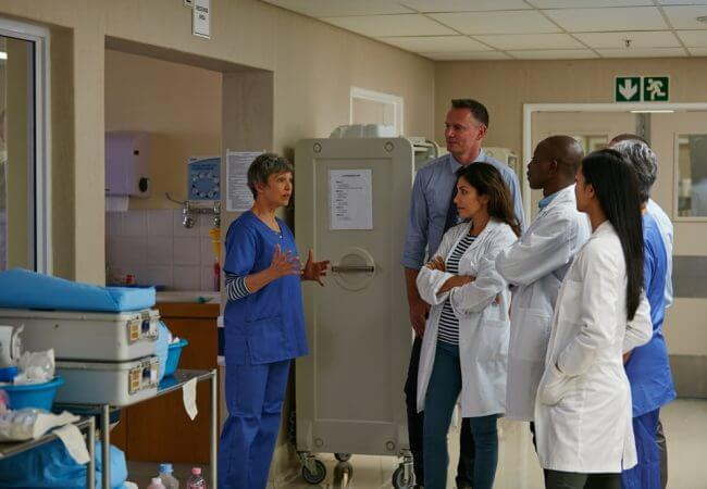 Interprofessional health care team in a hospital