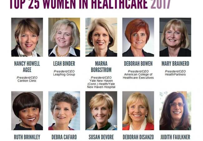 Campaign Friends and Allies Abound in List of Top Women in Health Care