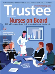 "Nurses ""Expand Depth of Knowledge,"" Reinhard Writes in Trustee Magazine"