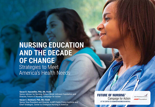 Cover of Nursing Education and the Decade of Change: Strategies to Meet America's Health Needs