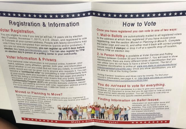 a voter registration guide