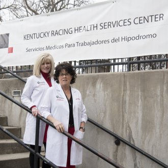 Advanced practice registered nurses Dedra Hayden and Whitney A. Nash are director and founding director of the Kentucky Racing Health Services Center. The Center provides racetrack workers with a rare level of care continuity.