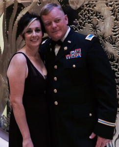 Jennifer Thompson, RN, and her husband Jason Thompson, Chief Warrant Officer 3, U.S. Army