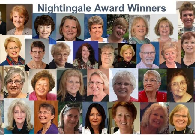 collage of the 2018 West Virginia Nightingale Award Winners