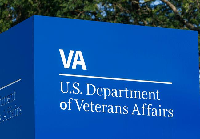 """Sign that says """"VA U.S. Department of Veterans Affairs"""""""
