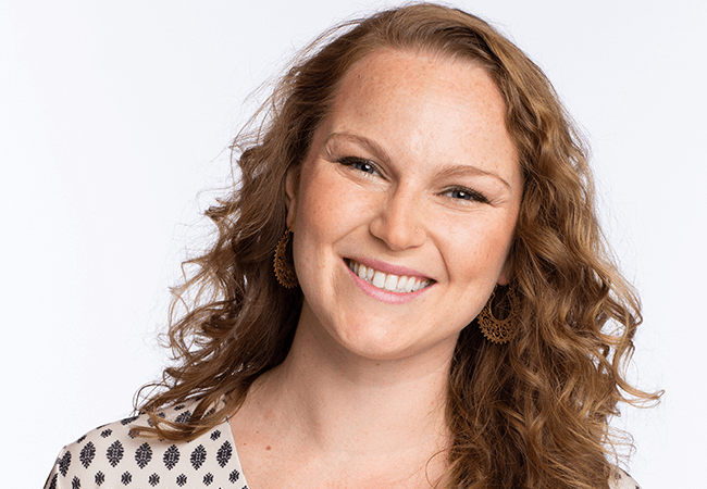 Headshot of Courtney Pladsen, DNP, FNP-BC, RN, a nurse practitioner and a participant in the Robert Wood Johnson Foundation's (RWJF) Culture of Health Leaders program who addressess homelessness.