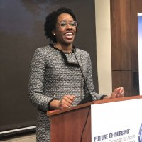 Congresswoman Lauren Underwood (IL), drew lots of applause at the reception.