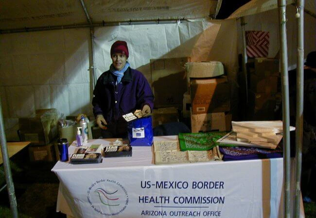 Laura Reichhardt, MS, APRN, NP-C at the U.S. Mexico border