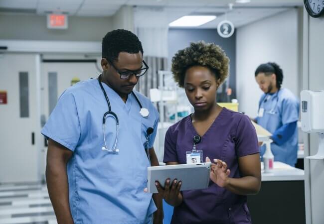 Photo depicts diversity in nursing