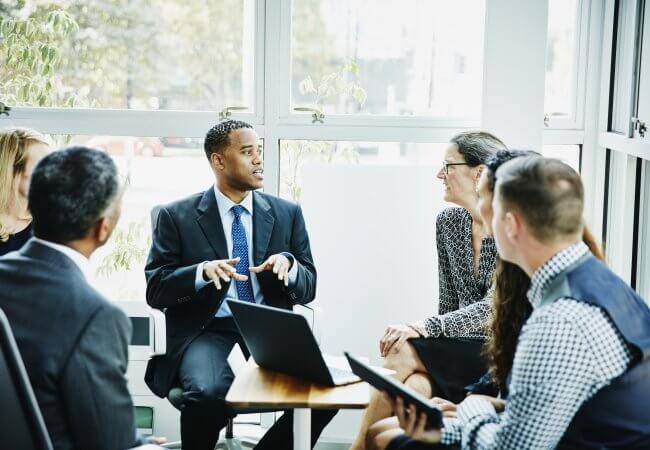 Cohort of a leadership program meets