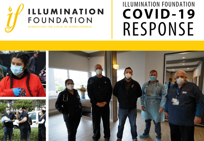 flyer showing Illumniation Foundation staff work ceaselessly on behalf of improving conditions for the homeless population.