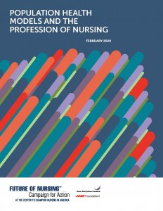 cover of Population Health Models and the Profession of Nursing report