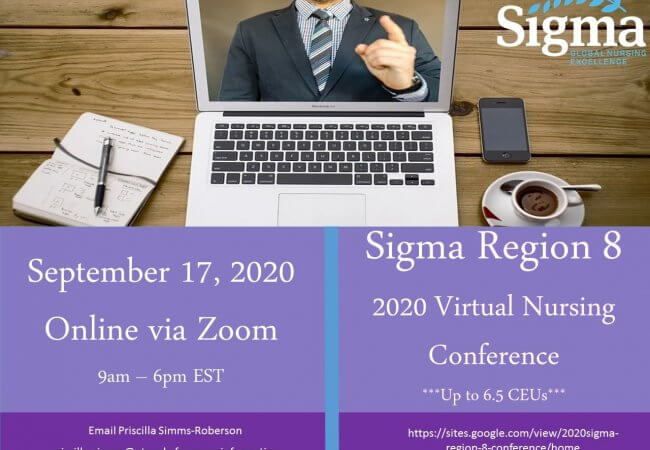 1-day Sigma Region 8 Virtual Conference on Thursday, September 17, 2020